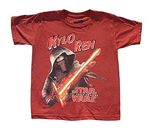 Star Wars The Force Awakens Kylo Ren Graphic Tee Shirt Red Multi (S (6/7))