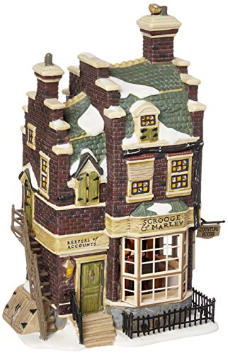 Department 56 Dickens' Village Scrooge and Marley Counting House Lit Building (Dickens Christmas Set Village)