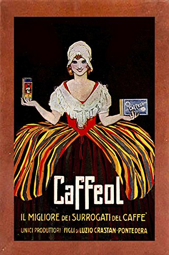 (Vintage Italian Coffee-VINAPP122858 Framed Print 19.75