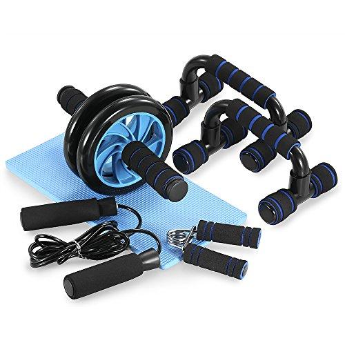Set de rodillo – push ups – esterilla y rueda para abdominales