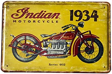 Chytaii.Tin Sign 1934 Cartel de Metal Vintage Caliente Metal Sign Retro de Oficina en casa Bar Tienda de café Lata Crafts