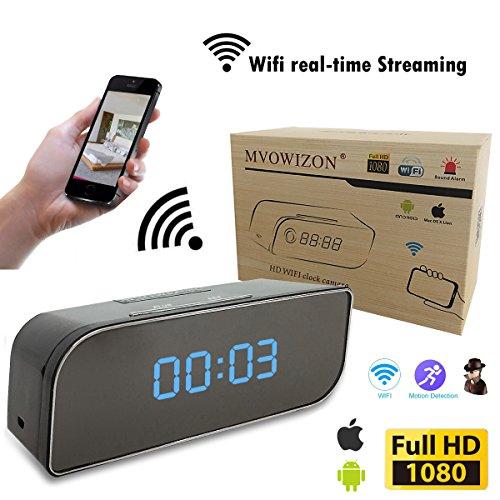 MVOWIZON Spy Camera Alarm Clock with Camera M1 WIFI Control