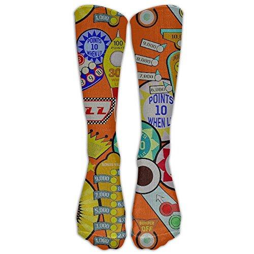 SDEYR79 Cartoon Pinball Orange Long Dress Socks Soft Sport Comfortable Breathable Over-the-Calf Tube