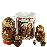Set of 5 Piece Russian Nesting Doll Matr