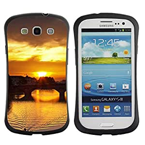 Paccase / Suave TPU GEL Caso Carcasa de Protección Funda para - Sunset Beautiful Nature 115 - Samsung Galaxy S3 I9300