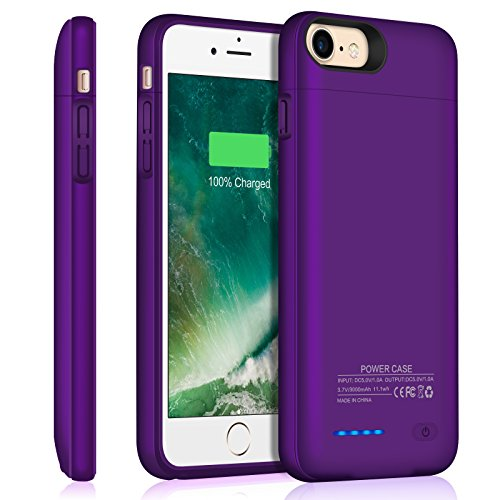 Iphone 7 8 Battery Case/Iphone 6 6S Battery Case/JUBOTY 3000mAh Slim Portable Charger Juice Pack Power Bank Battery Backup Charging Case for Iphone 7 8-Build in Magnet - Case Pack Magnet
