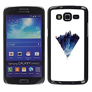 // PHONE CASE GIFT // Duro Estuche protector PC Cáscara Plástico Carcasa Funda Hard Protective Case for Samsung Galaxy Grand 2 / Polígono Montaña /