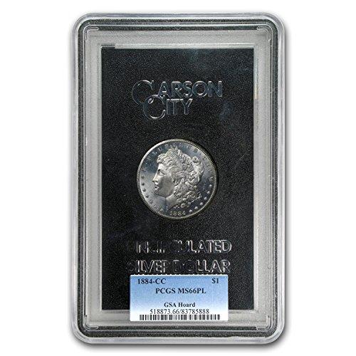 1884 CC Morgan Dollar MS-66 PL PCGS (GSA) $1 MS-66 PCGS