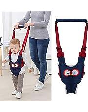 BUDDE Baby Walking Harness Handheld Baby Walker, Safe Stand Hand Held Toddler Leash Assistant Walking Helper, Breathable Safety Walking Harness Walking Belt for Toddler Infant, Adjustable (Blue)
