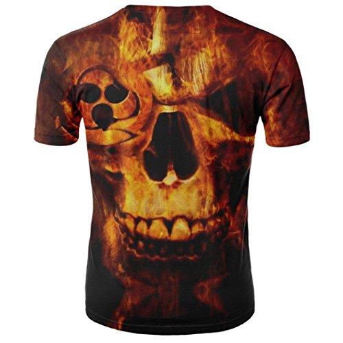 Grafica Manica T shirt Estate Tees Maglietta Stampato uomo Tops Styledresser Stampata Giallo Uomini In T Manica 3D Shirt Cotone Unisex Corta Casual Promozioni Uomo da Corta P65pfOpqw