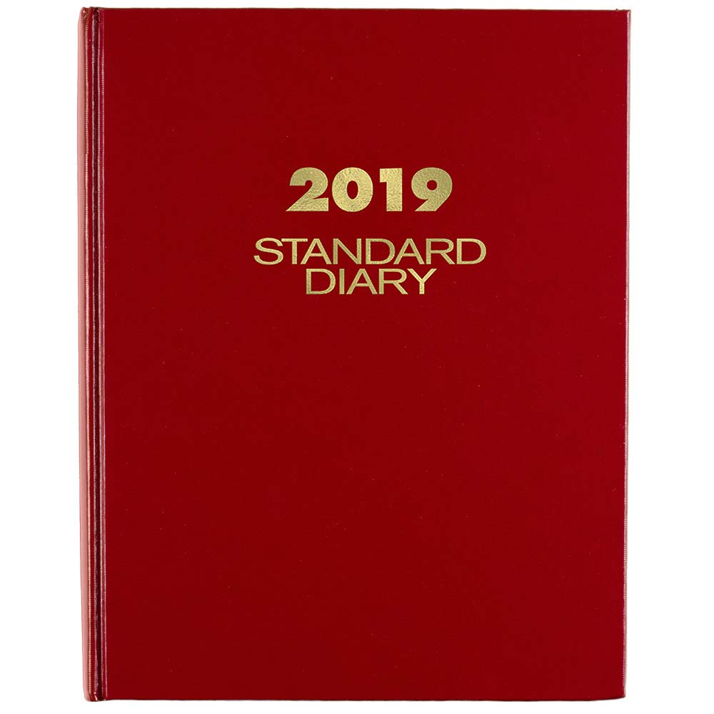AT-A-GLANCE 2019 Standard Diary, Daily Reminder, 7-1/2'' x 9-7/16'', Medium, Red (SD37413)