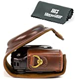 """MegaGear """"Ever Ready"""" Protective Leather Camera Case, Bag for Canon SX720 HS, Sx700 HS, Canon PowerShot SX710 HS (Dark Brown)"""