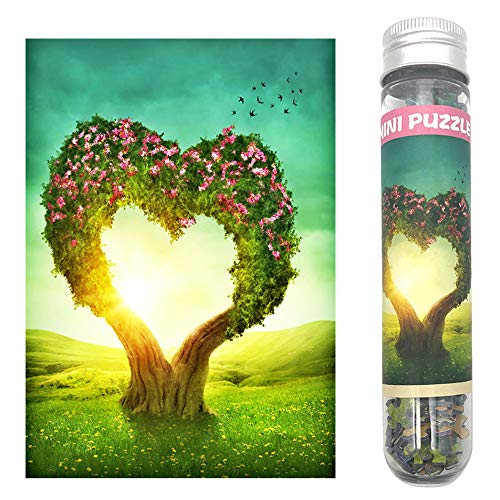 - CHengQiSM Small Jigsaw Puzzles for Adults 150 Pieces Mini Jigsaw Puzzles Love Heart