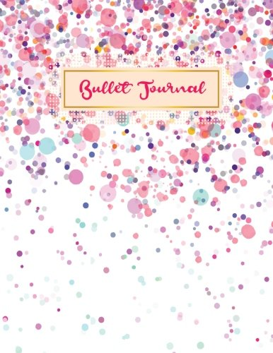 Bullet journal: quarterly planner with blank yearly & monthly calendar, and habit tracker, 120 dot grid & 15 lined pages, 8.5x11in, polka dot design: ... large diary journal to write in everyday life