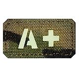 ir blood type - A Positive A+ Blood Type Patch Laser Cut Military Tactical Morale Velcro IR GITD (Multicam - GITD - IR)