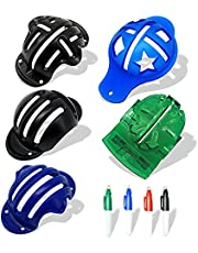 Golf Ball Line Marker Tool Kit, Plastic Golf Ball Liner Alignment Tool Including 5 Golf Ball Markers Stencil and 4 Line Markers Pens,Golf Gifts for Men and Women(9 Pack)
