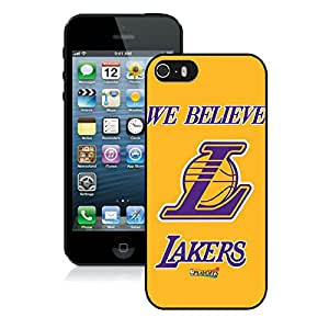 Perfect fit for your beloved phone,100% Brand New LA lakers 2 Black For iPhone 5S Case