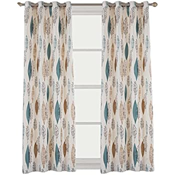 Cherry Home Rustic Curtains With Floral Leaves Blossom Room Darkening  Blocking Light Lined Curtains Panel Drapes
