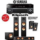 Klipsch RP-280F 3.1.2-Ch Reference Premiere Dolby Atmos Home Theater System with Yamaha AVENTAGE RX-A2070BL 9.2-Channel Network AV Receiver