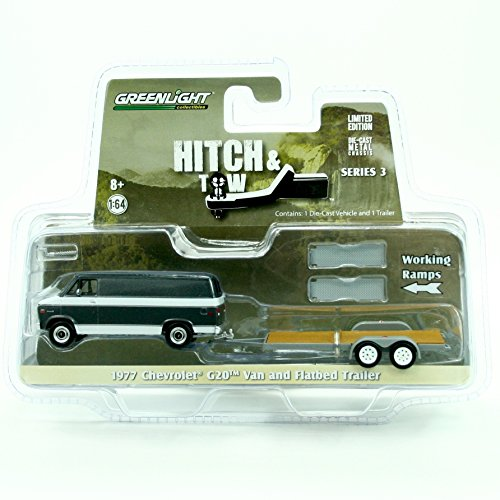 1977-chevrolet-g20-van-flatbed-trailer-hitch-tow-series-3-greenlight-collectibles-2015-truck-trailer