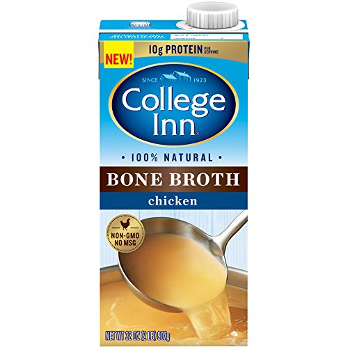 College Inn 100% Natural Chicken Bone Broth in Aseptic Carton, Pack of 12
