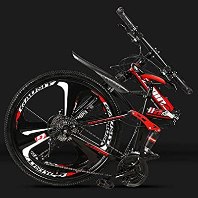 DSAQAO Bicicletas MTB De Suspensión Completa,24 Pulgadas Plegable Mountain Bike 21 24 27 Bicicleta De Disco De 30 Velocidades para Adultos Adolescentes Estudiante Buque Insignia3 30 Velocidad: Amazon.es: Deportes y aire libre
