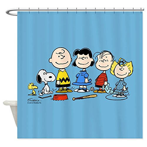 CafePress - The Peanuts Gang - Decorative Fabric Shower Curtain (69