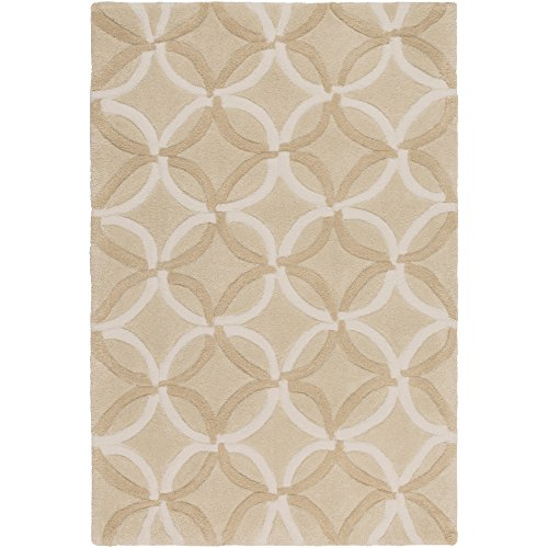 Surya Cosmopolitan COS-8869 Transitional Hand Tufted 100% Polyester Wheat 9' x 13' Geometric Area Rug (Rug Transitional Wheat)