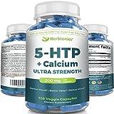 5-HTP 200 mg Supplement – 120 Vegetarian Capsules – 5htp Supplement Review