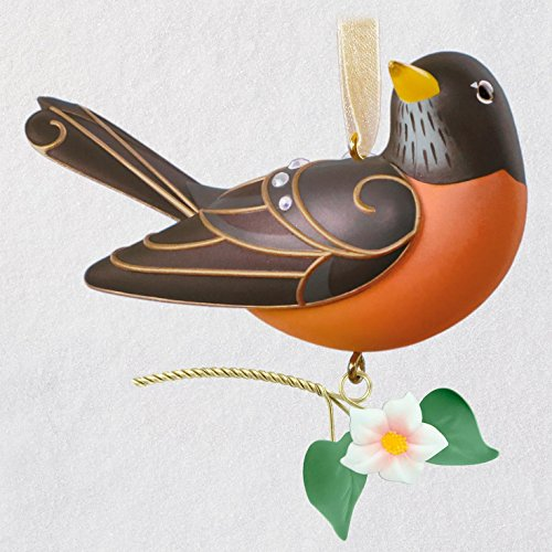 Hallmark Keepsake Christmas Ornament 2018 Year Dated, Beauty of Birds Robin by Hallmark