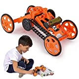 Engineering Stem DIY Car Assembly Gift Toy for Boys Kids & Adults - 4WD Electric Mechanical...