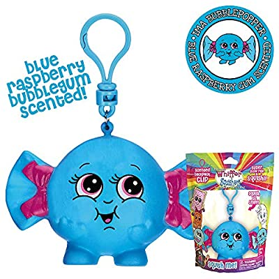 Whiffer Squishers Ima Bubblepopper Slow Rising Squishy Toy Blue Raspberry Bubble Gum Scented Backpack Clip: Toys & Games