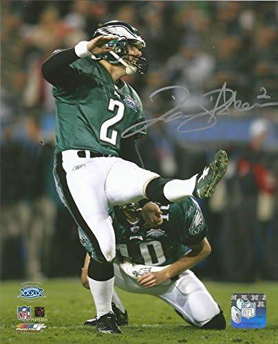 David Akers Super Bowl XXXIX Eagles Autographed 8 x 10 Football Photo