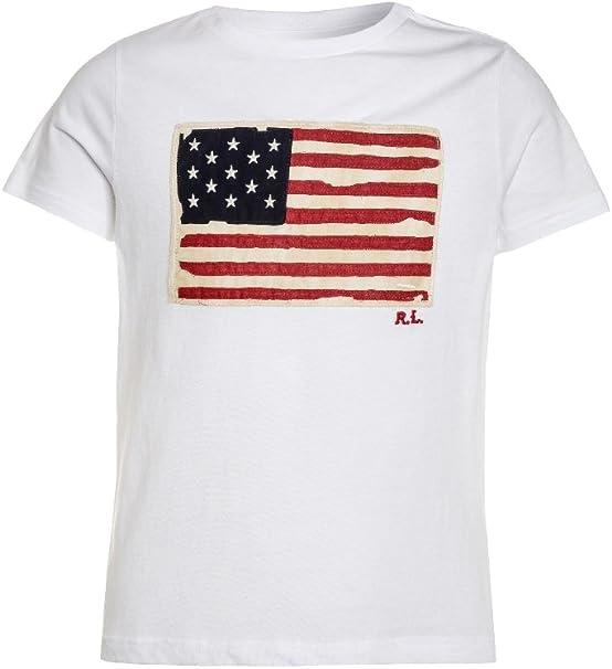 Polo Ralph Lauren Camiseta Bandera Niño (8 Años): Amazon.es: Ropa ...