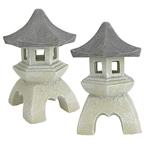 Design Toscano Asian Pagoda Statues Medium - Set of Two (Outdoor Pagoda Designs)