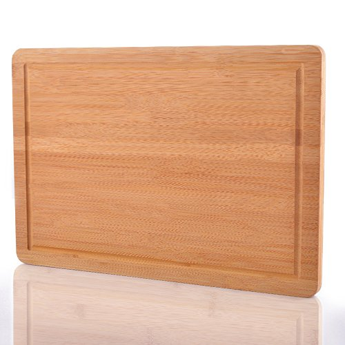 Bamboo Cutting Board - Premium Large Wood, Bamboo Chopping Board by Comllen (18