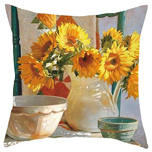 (AOJIAN Home Decor Cushion Cover, Sunflower Decorative Throw Pillow Covers Protectors Bolster Case Pillowslip)