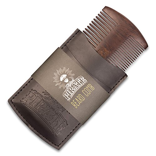 Premium Beard Comb Set with Amazing Sandalwood Smell - Dual Action Fine & Coarse Teeth - Quality Wood Beard Comb Kit for Men to Use With Balm and Oil, BONUS: - Men For Stylish Beard