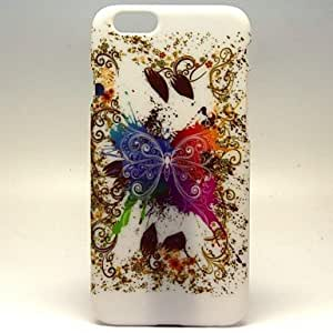 JAJAY The Great White Butterfly Pattern Hard Plastic Back Cover Case for iphone 6