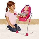 Chicco. 4-in-1 Eat & Swing Highchair for Baby Dolls, Pink