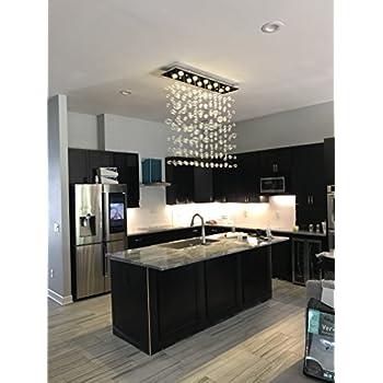 siljoy rectangular modern bubble glass chandelier lighting for