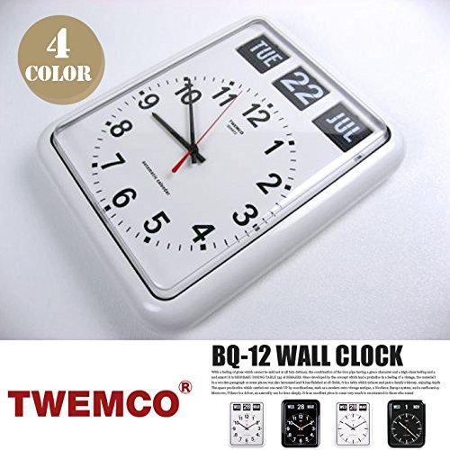 BQ-12 WALL CLOCK(ウォールクロック) パタパタクロック TWEMCO(トゥエンコ) B-ホワイト B00Q9QWTMGB-ホワイト