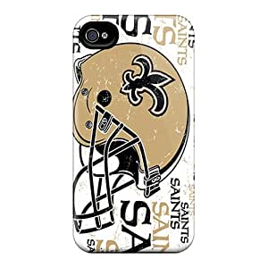 Iphone 4/4s LWh1466fWoO Support Personal Customs High-definition New Orleans Saints Series Protector Hard Cell-phone Cases -AlissaDubois