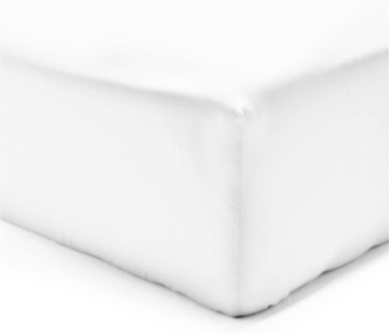 100/% Coton Vision Drap Housse Taupe 200x200cm avec Bonnet de 30cm