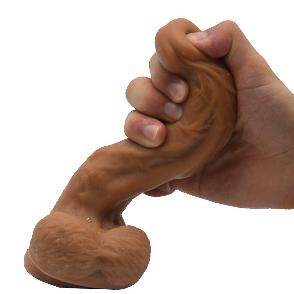 QWE Silicona Masturbación Simulado Pene, Pene Artificial Masturbación Silicona Punto G Orgasmo Masaje Stick, (no Tóxico, Inofensivo, Sin Olor) Tamaño: 20 cm/7,87 Pulgadas * 3,7 cm/1,45 Pulgadas (Embalaje Privado) b037c6