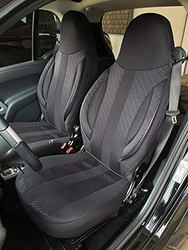 Maat stoelhoezen compatibel met Smart fortwo 450 451 bestuurder & passagier Kleurnummer: MD504