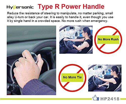 Hypersonic Black Vehicle Steering Knob Car Power Handle Spinner