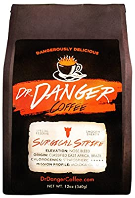 DrDanger Coffee - SURGICAL STRIKE - Scientifically selected, blended & roasted - whole bean - 12oz
