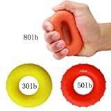 Wnnideo Hand Grip Strengthener Exerciser Rings Forearm Wrist Finger Exerciser 30 50 80 LBS Multiple Resistance Levels & Colors Review