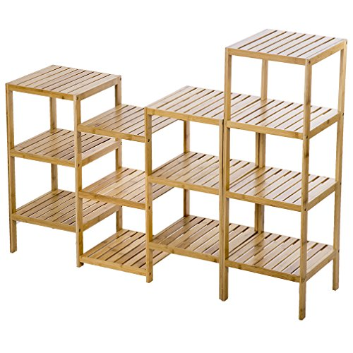 PayLessHere Bamboo Storage Shelf Rack Plant Display Stand 13